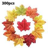 lossomly 300/500 Stück künstliche Herbst Ahornblätter Ahorn Laub Herbstlaub Blätter für Unterlage Wandbild Türschild Party Hochzeit Weihnachten Deko Cosy