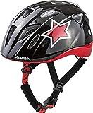 Alpina Unisex Jugend XIMO Flash Fahrradhelm, bl-red-wht Star, 47-51 cm