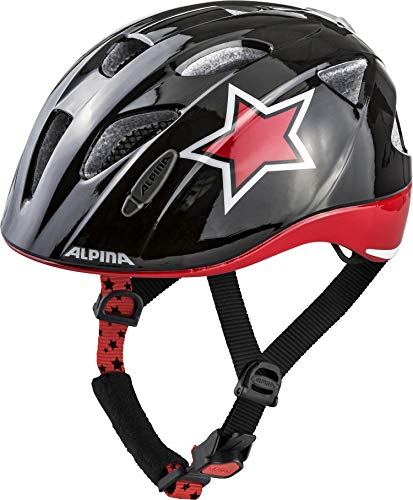 Alpina Unisex Jugend XIMO Flash Fahrradhelm bl-red-wht Star 49-54 cm