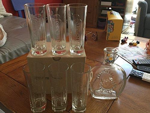 lot-de-6-verres-ricard-tube-22cl-1-carafe-ricard-neuf