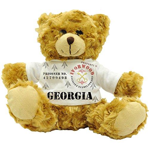 Georgien Eigentum der Fazilität Ivorwood Correctional-Statuette Name Prisoner Plüsch-Teddybär (22 cm) (Georgien Namen)