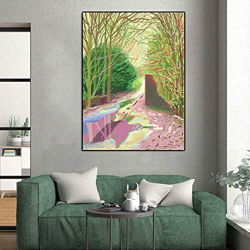 Yhyxll David Hockney Poster Paisaje Arte Pared Pintura