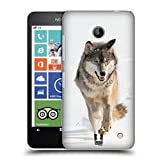 Head Case Designs Grauer Wolf Rennt Tierwelt Snap-on Schutzhülle Back Case für Nokia Lumia 630 Dual SIM 630 635