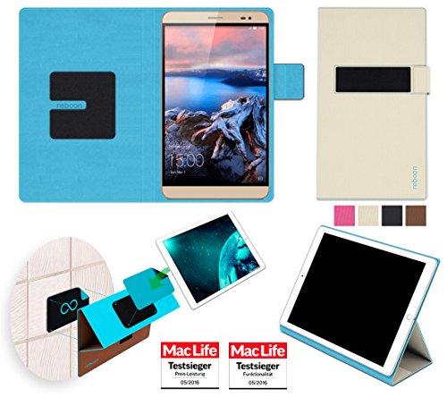 reboon Hülle für Huawei MediaPad X2 Tasche Cover Case Bumper | in Beige | Testsieger