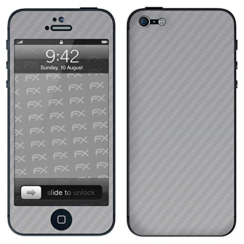 """Skin Apple iPhone 5 """"FX-Velvet-Black"""" Designfolie Sticker FX-Carbon-Silverlight"""