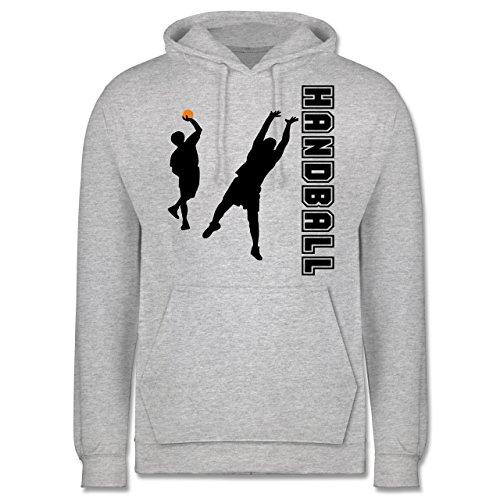 Handball - Handball Wurf Verteidigung - M - Grau meliert - JH001 - Herren Hoodie