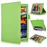 Schutzhülle für Lenovo Yoga Tab 3Pro (25cm)–IVSO slim-book grün Pour Lenovo YOGA Tab 3 8-Inch