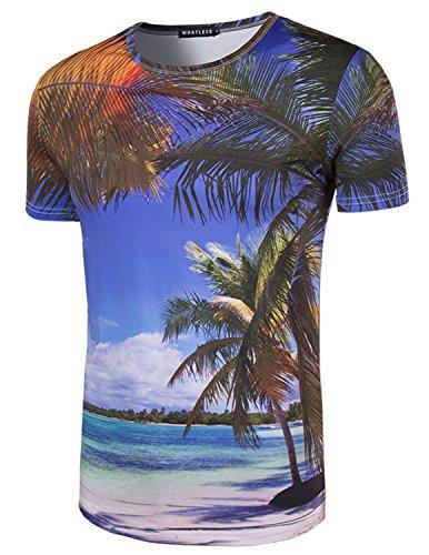 YCHENG Herren T-Shirt 3D-Druck Beiläufige Hemd Bluse Kurzarm Tops Graphics Tees F