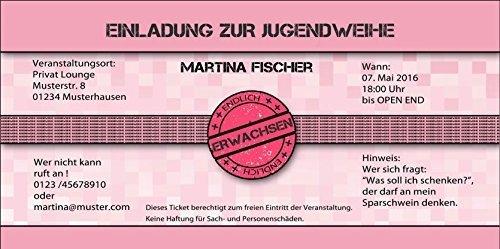 Jugendweihe Einladungskarten Jugendweihekarten Einladung EInladungen - 10 Stück