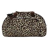 Borsa in tela cerata Weekender bag Borsa da viaggio, per la piscina, sauna, fitness per donna impermeabile, multicolore, vintage, Leopard