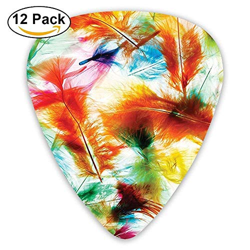 Psychedelic Blurry Mix Feathers Pure Energy Of Love And Life Wing Art Icons Guitar Picks 12/Pack