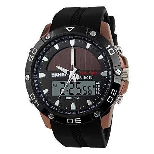 Solar Herrenuhr, Dual Display elektronische Uhr, Student Outdoor Sports Watch, wasserdichte Persönlichkeit Uhr -