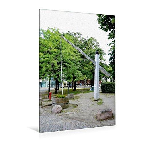 Premium Textil-Leinwand 80 cm x 120 cm hoch, Hungerbrunnen - Achim | Wandbild, Bild auf Keilrahmen, Fertigbild auf echter Leinwand, Leinwanddruck (CALVENDO Orte)