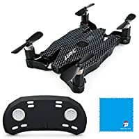 Mini RC Ultra-thin RC-Quadcopter RTF Self-made, Four-Axis Aircraft, JJR/C H49 SOL 720P WIFI FPV with Altitude Hold Mode in Beauty Mode - Black by JJR/C