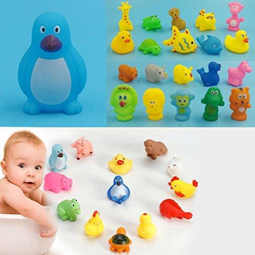 nisels Nuovi Animali Giocattoli per Bambini Morbido Vinile Galleggiante Squeeze Sound Baby Wash Bath Gioca Giocattoli