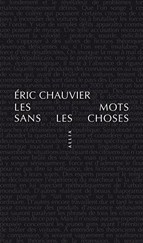 Les Mots sans les choses par Eric Chauvier