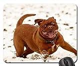 Gaming-Mauspads, Mäusematte, Bordeaux Mastiff Dog Animal White De Mastiffs 5
