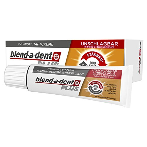 Blend-a-dent Plus Premium-Haftcreme Duo Kraft, 12er Pack (12 x 40 g)