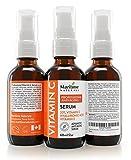 Natürliches Vitamin C Serum Gesicht 20% von Maritime Naturals – Hyaluronsäure – Zertifiziert Biologisch – Anti-Aging und Anti-Wrinkle – Große 60ml Flasche