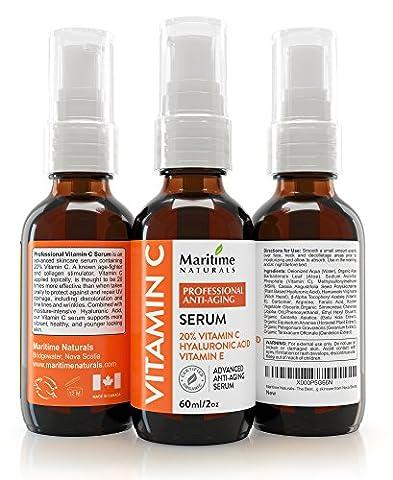Maritime Naturals 20% VITAMIN C SERUM - Hyaluronic acid - HUGE 60ML-Facelift in a bottle