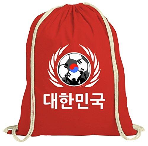 Coppa Del Mondo Calcio Cresta Wm Fanfest Gruppi Fan Natura Palestra Borsa Palestra Calcio Corea Rosso Natura