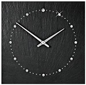 Vaerst 2724 orologio da parete al quarzo in ardesia naturale con scala realizzato con - Orologio parete cucina design ...