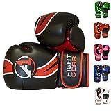 A1Fight Gear Pro Style leicht Boxhandschuhe | MMA- / Muay-Thai-Faustschutz, Boxhandschuhe für Herren, 16 oz (453,6 g), 14 oz (397 g), Schwarz , 453,6 g (16 oz)