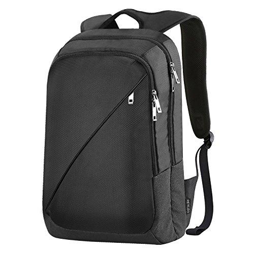 Reyleo zaino per pc portatile impermeabile borsa per la scuola e gli affari fino a 19 l( nero )
