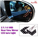 #8: MotoPanda 1 Pair of SMD LED Arrow Panel Lights for Car Side Mirror Turn Indicator for all Car and SYV