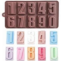 himki silicona chocolate Forma Cumpleaños 0–9Números 3d molde DIY Praline Forma para tarta de fondant decoración