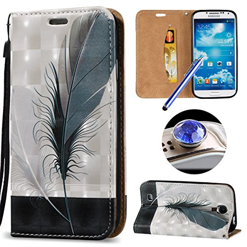 samsung-galaxy-s4-leather-casesamsung-galaxy-s4-wallet-caseetsue-creative-cool-grey-feather-3d-strap