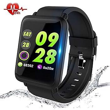 Montre Connectée,Anding Smartwatch Fitness Tracker étanche IP67 Montre Sport avec Podomètre Calorie Cardiofréquencemètre Sommeil,pour Enfants Femmes Hommes ...
