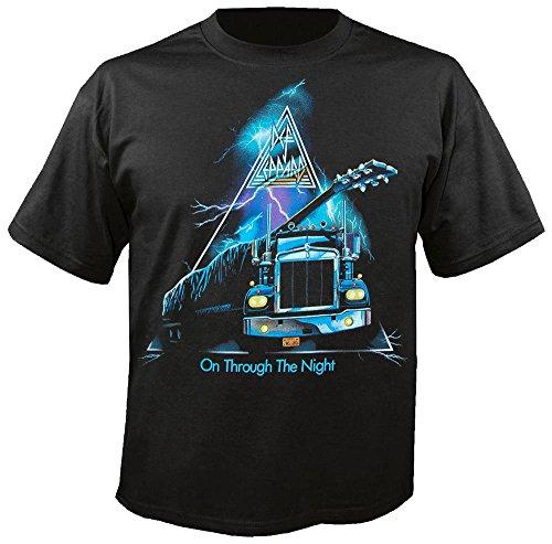 DEF LEPPARD - On Through The Night - T-Shirt Größe M (Lounge Rock-star)