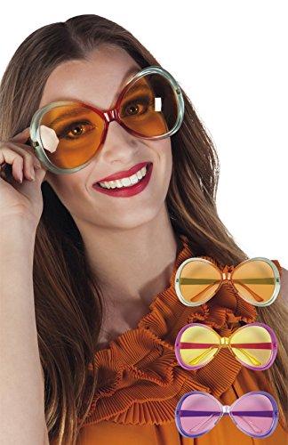 ze Retro Hippie Brille Kostüm Sonnenbrille, lindgrün (Horn Brille Kostüm)