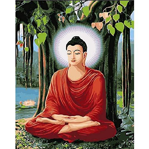 Buddha Meditieren (AZYVv Holz Puzzle DIY Puzzles 1000 Stück Meditieren Buddha Kunst Besonderes Geschenk Freizeit Spiel Spielzeug Dekoration)