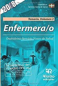 Enfermera/o. Osakidetza-Servicio Vasco de Salud. Temario. Volumen 2. segunda ed. par  Varios autores