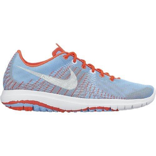 's Nike Menina Gs Elemento Flexível Sapatos, Meninas, Azul / Branco / Laranja