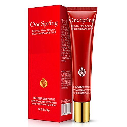 Cocohot Augen Creme, Rote Granatapfel Augencreme, Feuchtigkeitsspendend, Anti-Aging, Feine Linien, Dunkle Augenringe, Augen Serum -