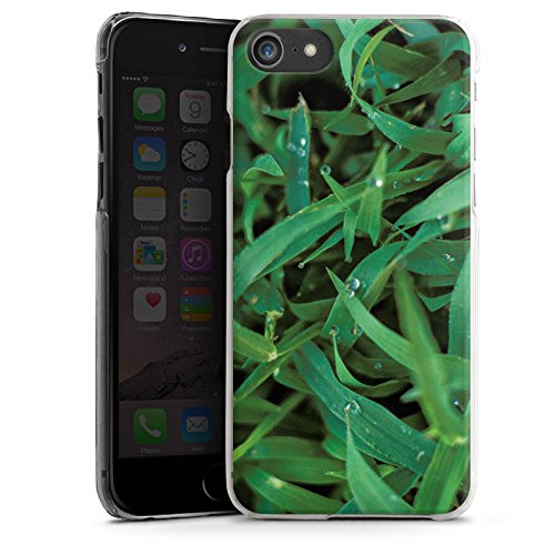 Apple iPhone X Silikon Hülle Case Schutzhülle Grashalm Tautropfen Gras Hard Case transparent