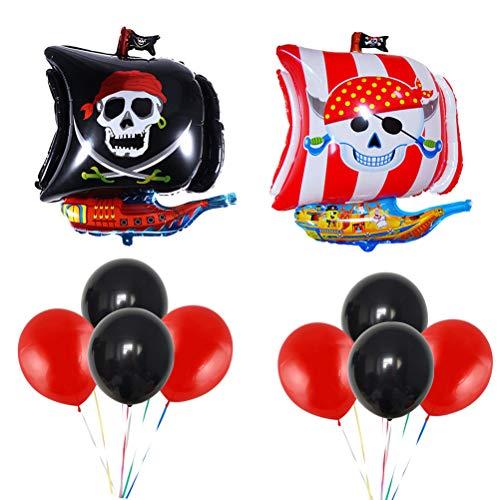 TOYANDONA 42PCS Piraten-Ballon-Thema-Partei-Dekoration Innen für Dekoration Halloween