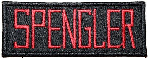 Ghostbusters Namensschild SPENGLER Badge bestickt Patch 12,7cm Aufnäher oder zum Aufbügeln
