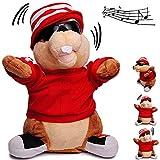 Unbekannt XL - singender & Tanzender - Biber - It´s Christmas - Plüschtier mit Sound & Bewegung - 27 cm - aus Stoff / Plüsch - Weihnachtsmann / Streifenhörnchen Chipmun..