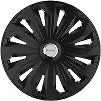 Michelin 92010 Set de tapacubos Fabienne con sistema reflector N.V.S., set de 4 piezas, 38,10 cm, 15 pulgadas, negro