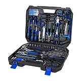 Kit di strumenti 210-Piece - set di strumenti di riparazione auto per la casa con chiavi esadecimali, martello, set di cacciavite, kit di presa, pinze e custodia della cassetta degli attrezzi