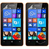 Vulkan Ultra Clear HD Screen Guard Protector For Microsoft Nokia Lumia 430 (Double Quantity) - Scratch Resistant - Glossy Finish - 100% Transparent - Completely Invisible