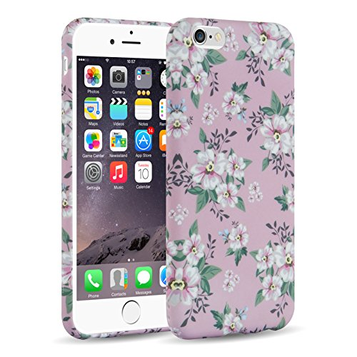 Cover iPhone 6, JAMMYLIZARD Custodia SAKURA in Silicone per iPhone 6 e 6s, ROSA (6 Ricamo)