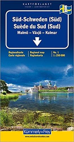 Kümmerly & Frey Karten, Süd-Schweden (Süd): South: Malmö, Växjö, Kalmar (Regional Maps - Schweden): Alle Infos bei Amazon