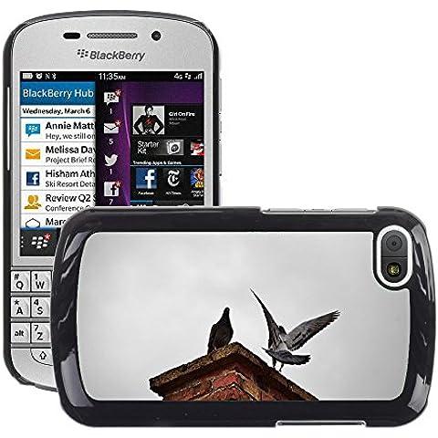 Just Cover Hot Style-Custodia rigida per cellulare, a forma di piccione, M00140023 camino uccelli Bird mosca, per BlackBerry Q10