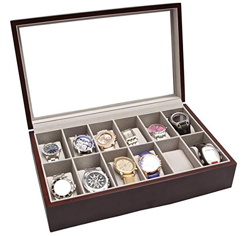 solid-espresso-12-slot-wood-watch-box-organizer-with-glass-display-top-by-case-elegance