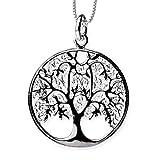 DarkDragon Anhänger Baum des Lebens Keltischer Lebensbaum Weltenbaum Bronze Schmuck – Heilung – mit Kette Halskette Silberkette